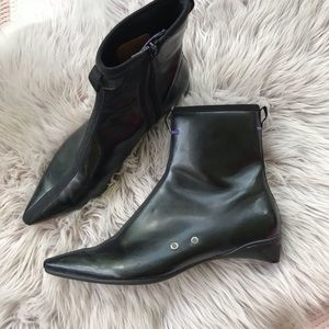 G Series Cole Haan Black Purple Pointed Ankle Boot
